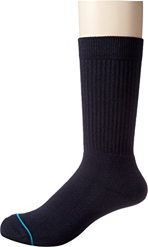 Stance Men's Icon Classic Crew Socks, Dark Navy, Large (Shoe: 9-12) from Stance