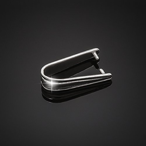 Grooved Pendant Pinch Bail 925 Sterling Silver 13x3mm
