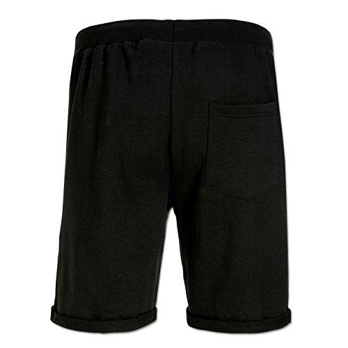 BVB-Shorts mit Steppmuster Schwarz L