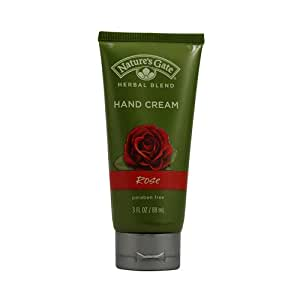Nature's Gate Hand Cream, Rose, 3 Ounce (Pack of 2)