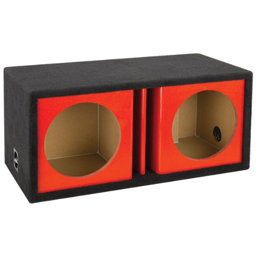 end Series 12-Inch Dual Vented Chambered Kandy Kolor Enclosure (Red) ()