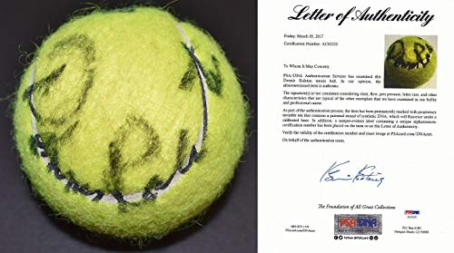 Dennis Ralston Signed - Autographed Penn Tennis Ball - Hall of Famer - FULL Letter of Authenticity (COA) - PSA/DNA Certified