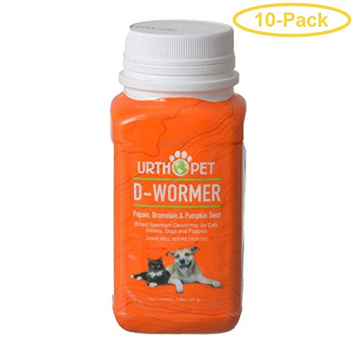 UrthPet D-Wormer for Dogs and Cats 5.8 oz - Pack of 10 by UrthPet