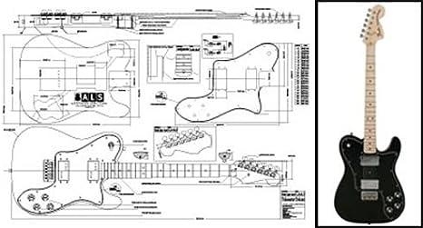 Plan de Fender Telecaster Deluxe guitarra eléctrica – escala ...