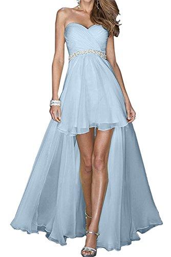Damen Jugendweihe Hi Blau La Himmel Herzausschnitt Abendkleider Kleider Blau lo Lang Brautjungfernkleider Marie Braut AxUWWwqEa