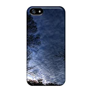 Tpu Fashionable Design Blue Morning Rugged Case Cover For Iphone 5/5s New