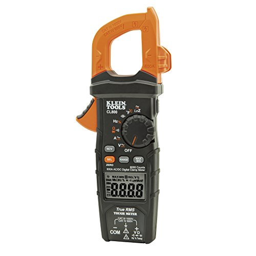 Klein Tools CL800 AC/DC Auto-Ranging 600 Amp Digital Clamp Meter by Klein Tools