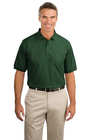 Port Authority Mens Big And Tall Silk Touch Polo Shirt Dark Green 2Xl Tall
