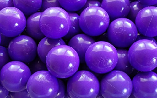My Balls Pack of 500 Jumbo 3'' Purple Color Commercial Grade Ball Pit Balls - Air-Filled Crush-Proof Phthalate Free BPA Free PVC Free Non-Toxic Non-Recycled Plastic by My Balls by CMS (Image #3)