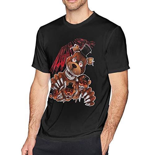 Obagaty FNAF 4 Nightmare Freddy Men's Classic Short Sleeve T-Shirt Black M