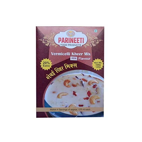 Parineeti Food Products Vermicelli Kheer Mix (Pista Flavour, 120 g Each) - Pack of 3