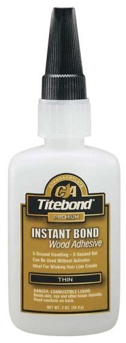 15 Pack Franklin 6201 Titebond Instant Bond Thin Wood Adhesive - 2-oz Bottle