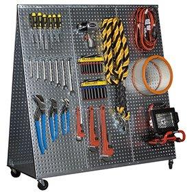 Alligator Board Steel Pegboard Tool Cart - 48in.L, Model# WOWCART48
