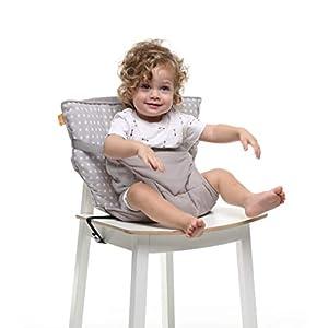 Baby-To-Love Chaise Nomade, Chaise Haute Portable Réversible et Compacte pour Bébé (White Stars) 70