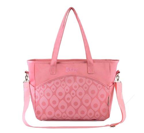 Tonwhar multifuncional gran capacidad bandolera bolsa de pañales - rosa
