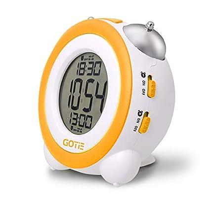 Gotie GBE-200R Reloj Despertador Digital Infantil a Pilas, Libre de BPA