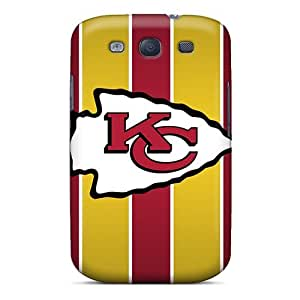 Shockproof Hard Phone Covers For Samsung Galaxy S3 (tKY13088OzEB) Customized HD Kansas City Chiefs Series
