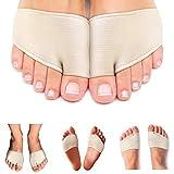 Best Metatarsal Pads for Women and Men. Ball of Foot Metatarsal Sleeves with Gel Cushion for Mortons Neuroma, Diabetic Feet Sesamoiditis, Metatarsul Incapsulitus, Metatarsalgia. 2 Callus Pad Cushions