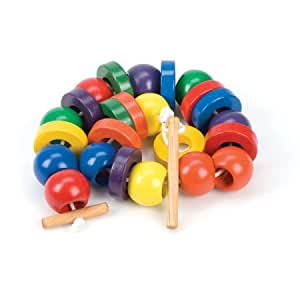 Threading & Lacing Bead Set - Oversized Wood Beads Made in USA