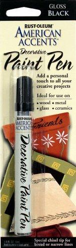 Rust-Oleum 215123 American Accents Satin Decorative Paint Pens, Black, 1/3-Ounce