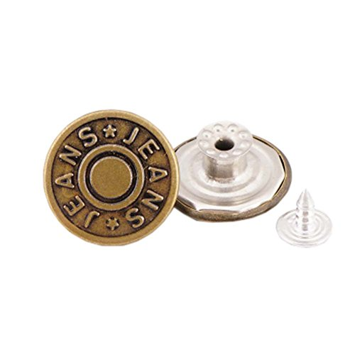 George Jimmy 10 Pcs 20mm Vintage Buttons Replacement Tack Button for Jean Jacket Suspenders, 2# ()