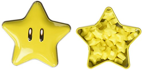 New Super Mario Brothers Super Star Tin(one) with star candies -