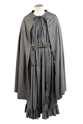 (Ya-cos Men's The Fellowship of The Ring Gandalf Cosplay Costume Robe Cloak Grey/Brown (X-Large,)