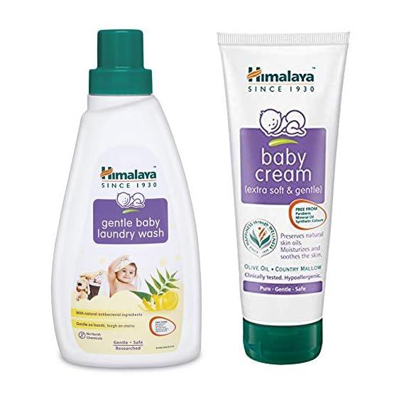 Himalaya Baby Cream, 200ml With 500 Ml Laundry Wash Bottle