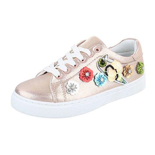 Ital-Design - Zapatillas de casa Mujer Rosa Gold FC-S29
