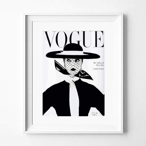 Poster Vogue Vintage in Black, Fashion Decoration for Home (30 x 40 cm)