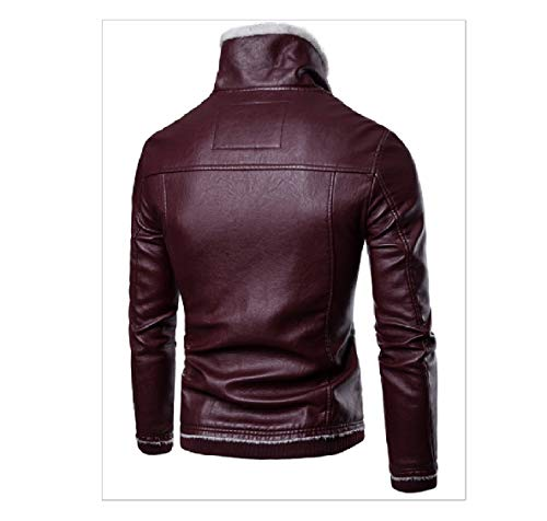 Casual Down Collar Plus Men's XINHEO Turn Thickening Faux Leather Jackets Solid 2 Velvet ORq5xg