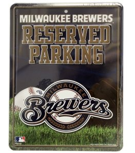 MLB Milwaukee Brewers Parking Sign