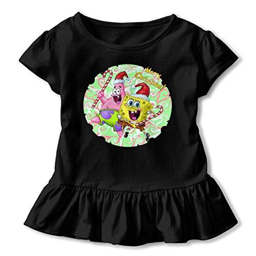 PSnsnX Patrick Star Spongebob Christmas Toddler Girls Short-Sleeve Tunic Shirt Tunic Top