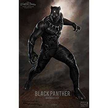 Amazon.com: Black Panther Movie Poster 18'' X 28 ...