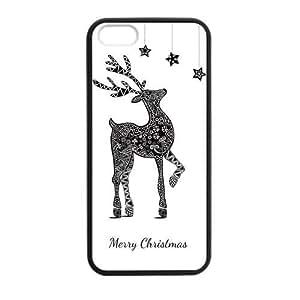 Retro Deer Frolic Play Lovely Interesting Design Iphone 5s Case Shell Cover (Laser Technology)