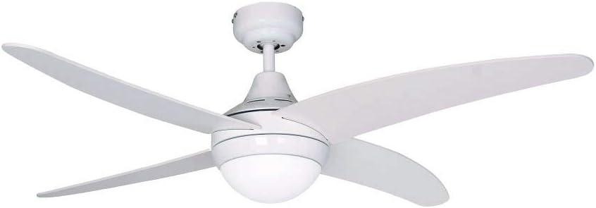 Sulion Ventilador de Techo con luz 075148 Albatros Blanco/Blanco