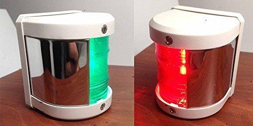Marine Stiefel grün Steuerbord und rot Port Side LED Funktionslicht – Weiß von Total Marine
