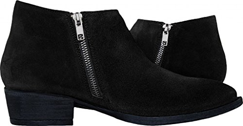 Cavalone Womens Suede Leather Pointed Toe Ankle Booties Saga Black A0JW2vzi