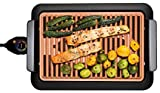 GOTHAM STEEL Smokeless Electric Indoor Grill DELUXE Extra Large Surface Portable Nonstick 18''X13 Commercial Party Family Size Largest Size Available, Easy Clean-up, Seen TV Smoke-less Grill