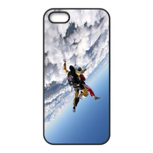 Jump Clouds Sky Plane Parachutists 25551 coque iPhone 5 5S cellulaire cas coque de téléphone cas téléphone cellulaire noir couvercle EOKXLLNCD24963