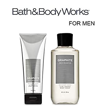 277f45084a Amazon.com : Bath and Body Works Just for Him Gift Set GRAPHITE FOR MEN  Ultra Shea Body Cream and 2-in-1 Hair + Body Wash. Full Size : Beauty