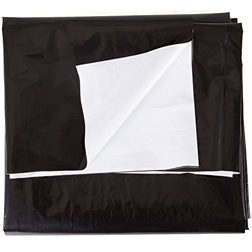 5.5 Mil Black and White Panda Poly Film Sheeting – 10' x 100' ()