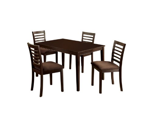 Furniture of America Ramone 5-Piece Dining Table Set, Espresso Finish