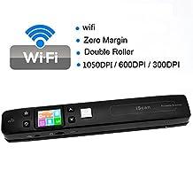 Tigerhu IScan Wireless Wifi Portable Digital Scanner 1050DPI Handy Scan Document Photo Receipts Books Double JPG / PDF Format TF Card