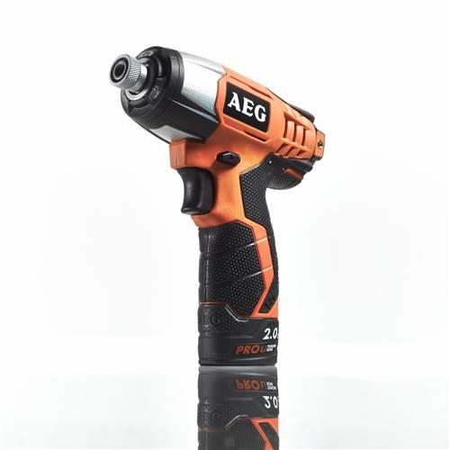 AEG BSS 12C LI-202C Perceuse avec manche à pistolet ions de lithium 2Ah 1200g Noir, Orange 4935443965