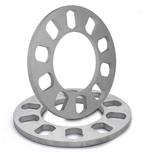 (8mm Thickness Wheel Spacers for 5x108mm (5x4.25), 5x110mm, 5x112mm, 5x114.30mm (5x4.50), 5x115mm, 5x120.65mm (5x4.75), 5x120mm, 5x127mm (5x5.00), 5x130mm, 5x135mm)