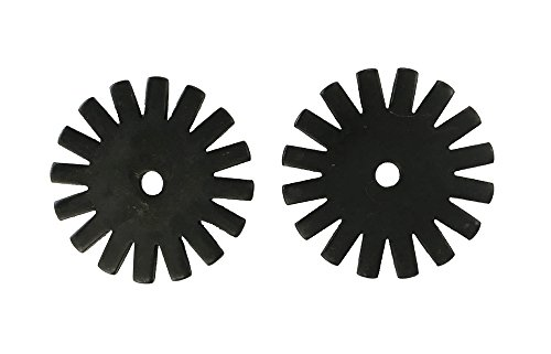 Western Spur Large Black Steel Rowels 1 3/4 Inch Sold In Pair 16 (Point Spur Rowels)