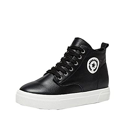An'Dee Women's Fashionable Comfortable Lace-up Brief Leather Casual Shoes