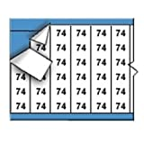 Brady TWM-74-PK Low-Profile Glossy Vinyl-Coated Polyester (B-702), Black on White, Solid Numbers Wire Marker Card (25 Cards)