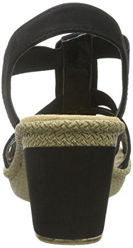 Rieker 66584-00, Women's Heels Sandals Black (Black)